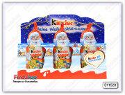 Маленькие шоколадные Дед Морозы Kinder 3 шт