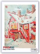 Шоколадный календарь Karkkipussi Mauri Kunnas joulukalenteri (хижина) 75 гр