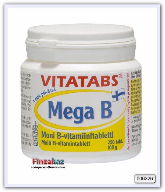 Vitatabs MEGA B, комплекс витаминов группы B, 250 табл