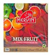 Чай чёрный Mervin Ceylon Black Tea Hedelmä mix (фруктовый микс) 100 пак