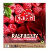 Чай чёрный Mervin Ceylon Black Tea Raspberry (малина) 100 пак