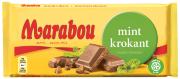 Шоколад Marabou Suklaalevy Minttukrokantti (мята, карамель) 200 гр