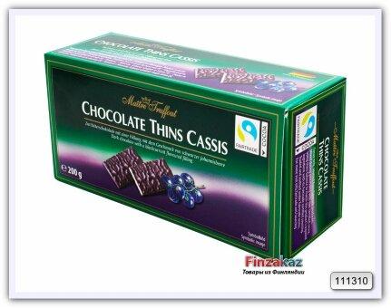 Шоколад Maitre Truffout (черная смородина) 200 гр