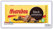 Шоколад молочный с лакрицей Marabou Black Salt Licorice, 180 гр