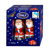 Конфеты шоколадные Санта Клаусы ONLY 125 гр