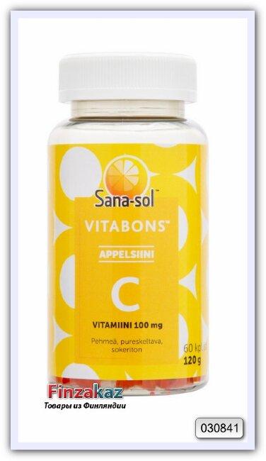 """Витамины группы """"C"""", """"C-vitamiini 100 mg Sana-Sol Vitabons 60 таб"""