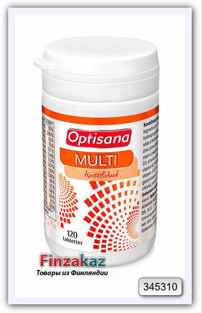 Мультивитамины OPTISANA MULTI MONIVITAMIINI 120 таб