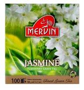 Зелёный чай цейлонский Mervin Ceylon Vihreä tee Jasmine (жасмин) 100 пак