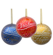 Рождественский шар с конфетами из молочного шоколада Only Christmas bauble with pralines 30g
