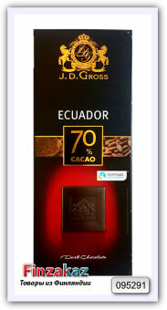 Шоколад J.D.Gross 70% 125 гр