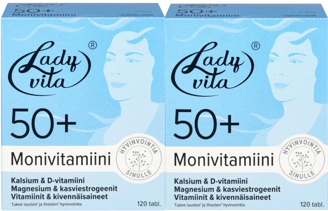 """Витаминно-минеральный комплекс для женщин """"Ladyvita 50+"""" 2*120 шт"""
