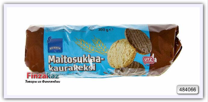 Печенье овсяное с шоколадом, Rainbow, 300 гр