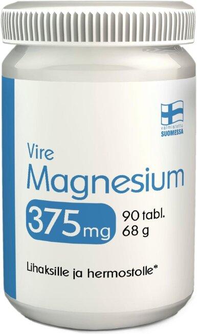 Витамины или БАД Vire Magnesium 375 Mg 90 Tablettia / 68 G (Undertone магния 375 мг таблетки 90/68 г)