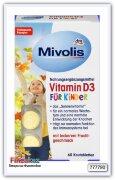 Витамин D3 жевательные таблетки для детей Mivolis Vitamin D3 Kautabletten für Kinder, Kautabletten 60 шт