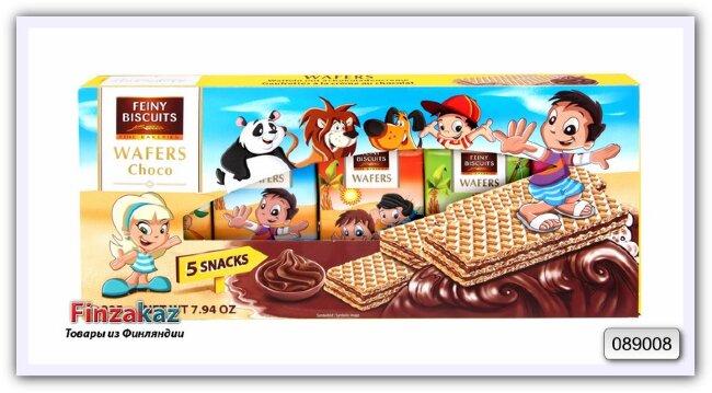 Детские вафли со вкусом какао- крема Kids-wafers with chocolate cream 225g