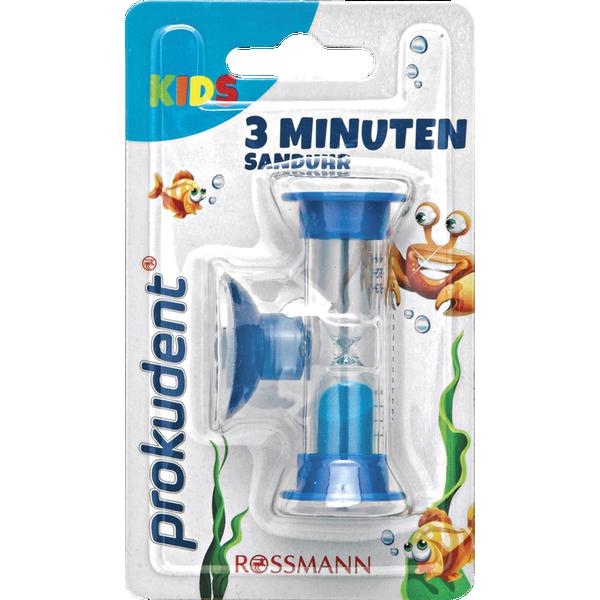 Трёхминутные песочные часы для чистки зубов ребёнка PROKUDENT 3 мин