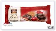 Бисквитные печенья с желейной начинкой со вкусом вишни Feiny Biscuits 135 гр