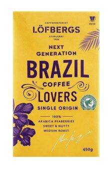 Кофе заварной Lofbergs Bryggkaffe Brazil 450 гр