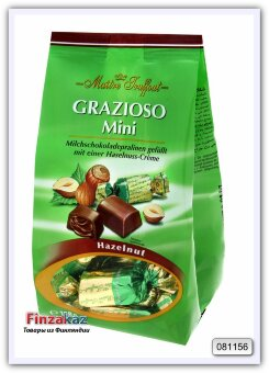 Конфеты из молочного шоколада с начинкой пралине, Maitre Truffout Grazioso 108 г