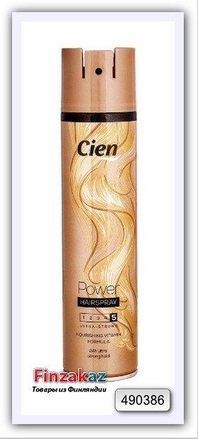 """Лак для волос сильной фиксации """"Power"""" Cien №5 - 400 мл"""
