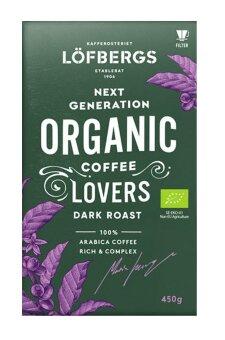 Кофе заварной Löfbergs Lila Next Generation ORGANIC Coffee Lovers Tumma 450 гр