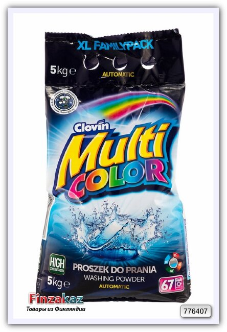 Стиральный порошок Multicolor для цветных тканей 5 кг (67 стирок)