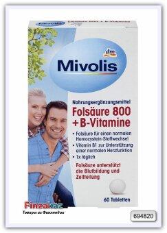 Mivolis Фолиевая кислота 800 + витамины группы B для поддержки сердца 60 таб