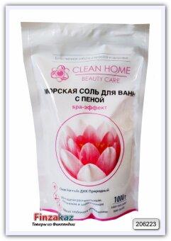 Морская соль для ванн с пеной Clean Home SPA-эффект 1 кг