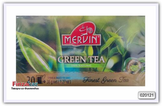 Чай зелёный Mervin  Green Tea 20 шт