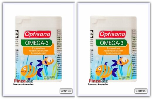"""Фруктовые жевательные капсулы """"Optisana Omega-3"""" 2 уп x30 шт"""