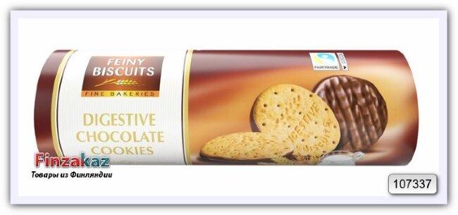 Печенье с молочным шоколадом Digestive biscuits with milk chocolate 300 гр