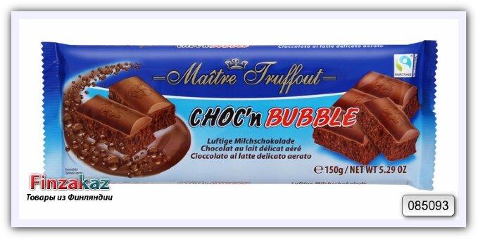 Молочный пористый шоколад Maitre Truffout 150 гр