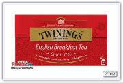 "Чай Twinings English Breakfast tee черный с с бергамотом ""Английский завтрак"" 25шт"