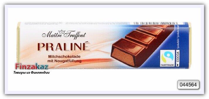 Шоколадный батончик с нугой Maitre Truffout 75 гр