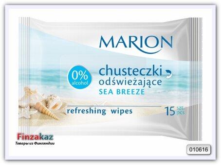 """Освежающие салфетки Marion """"Sea Breeze"""", 15шт"""