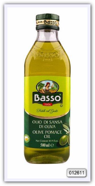 Масло оливковое рафинированное из выжимок с добавлением масла оливкового нерафинированного Basso Pomace Olive Oil 500 мл