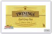Чай Twinings Earl Grey tea черный с бергамотом 25шт