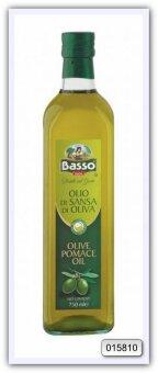 Масло оливковое рафинированное из выжимок с добавлением масла оливкового нерафинированного Basso Pomace Olive Oil 750 мл