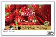 Чай чёрный Mervin Ceylon Black Tea Strawberry (клубника) 20 шт