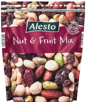 Alesto Nuts & Fruit микс орехов, клюквы и изюма 200 гр