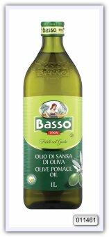 Масло оливковое рафинированное из выжимок с добавлением масла оливкового нерафинированного Basso Pomace Olive Oil 1 л