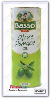 Масло оливковое рафинированное из выжимок с добавлением масла оливкового нерафинированного Basso Pomace Olive Oil 1 л (ж/б)