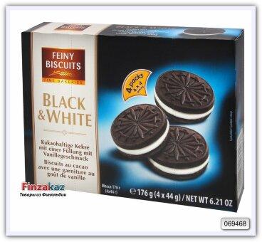 """Печенье """"Black & White"""" с какао и кремовой начинкой с ванильным вкусом 176 гр"""