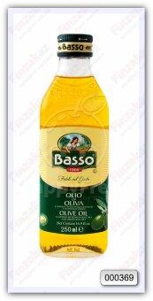 Масло оливковое рафинированное с добавлением масла оливкового нерафинированного Basso olive oil 250 мл