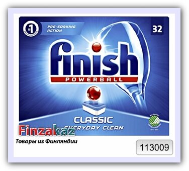 Таблетки для посудомоечной машины 32 шт Finish Classic 544 г