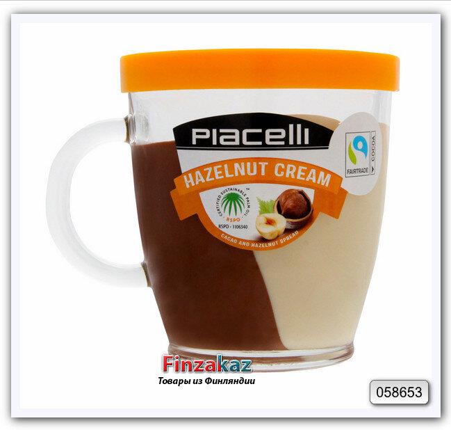 Крем-нуга из лесных орехов с какао (на основе растительных масел), Piaceili 300 г