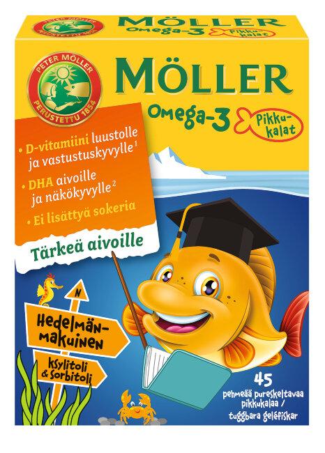 Жевательные таблетки Moller Omega-3 45 шт