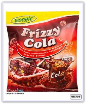 """Карамель леденцовая со вкусом колы и шипучей начинкой """"Frizzy Cola"""" Woogie 250 гр"""