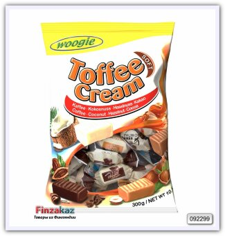 Конфеты Woogie Toffee cream soft - assorted toffees 300 гр