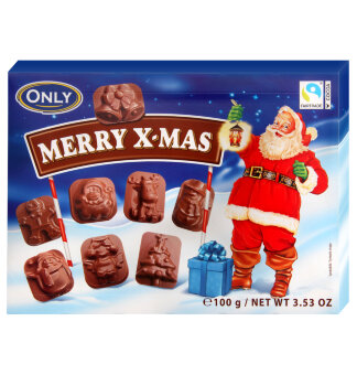 Шоколадные фигурки ONLY Choco Santas 100 гр